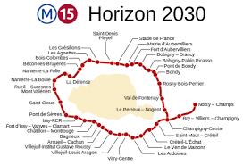 Carte ligne 15 Métro