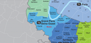 grand paris Seine ouest carte